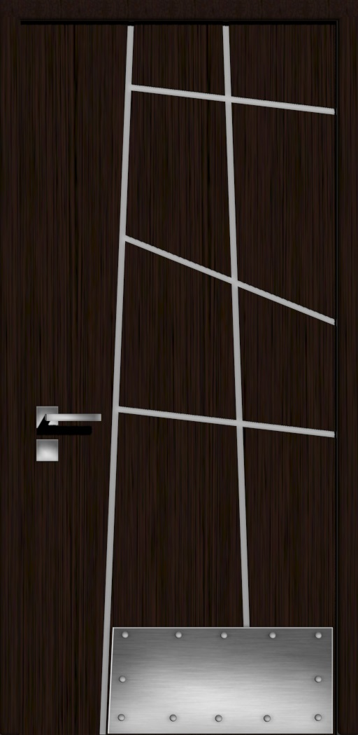Дверь в стиле хайтек